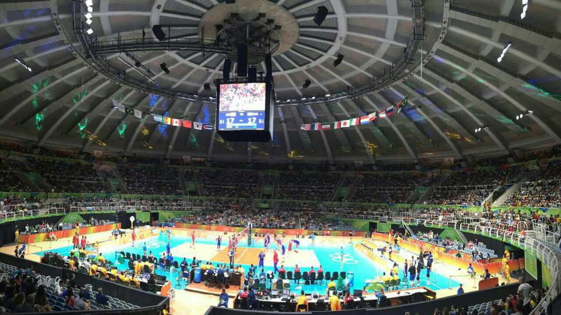 فیلم لحظه ورود تیم ملی والیبال ایران به سالن مسابقه والیبال المپیک ریو