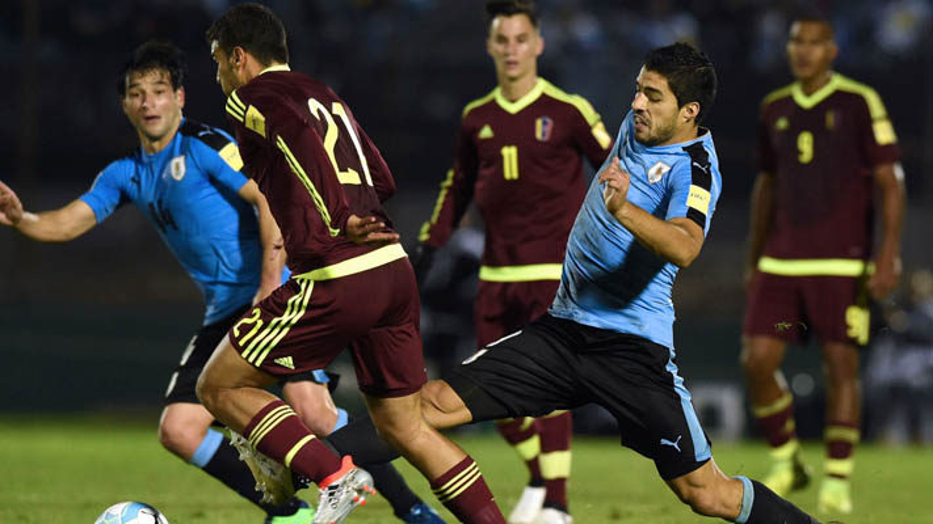 خلاصه بازی اروگوئه 3 - 0 ونزوئلا + فیلم