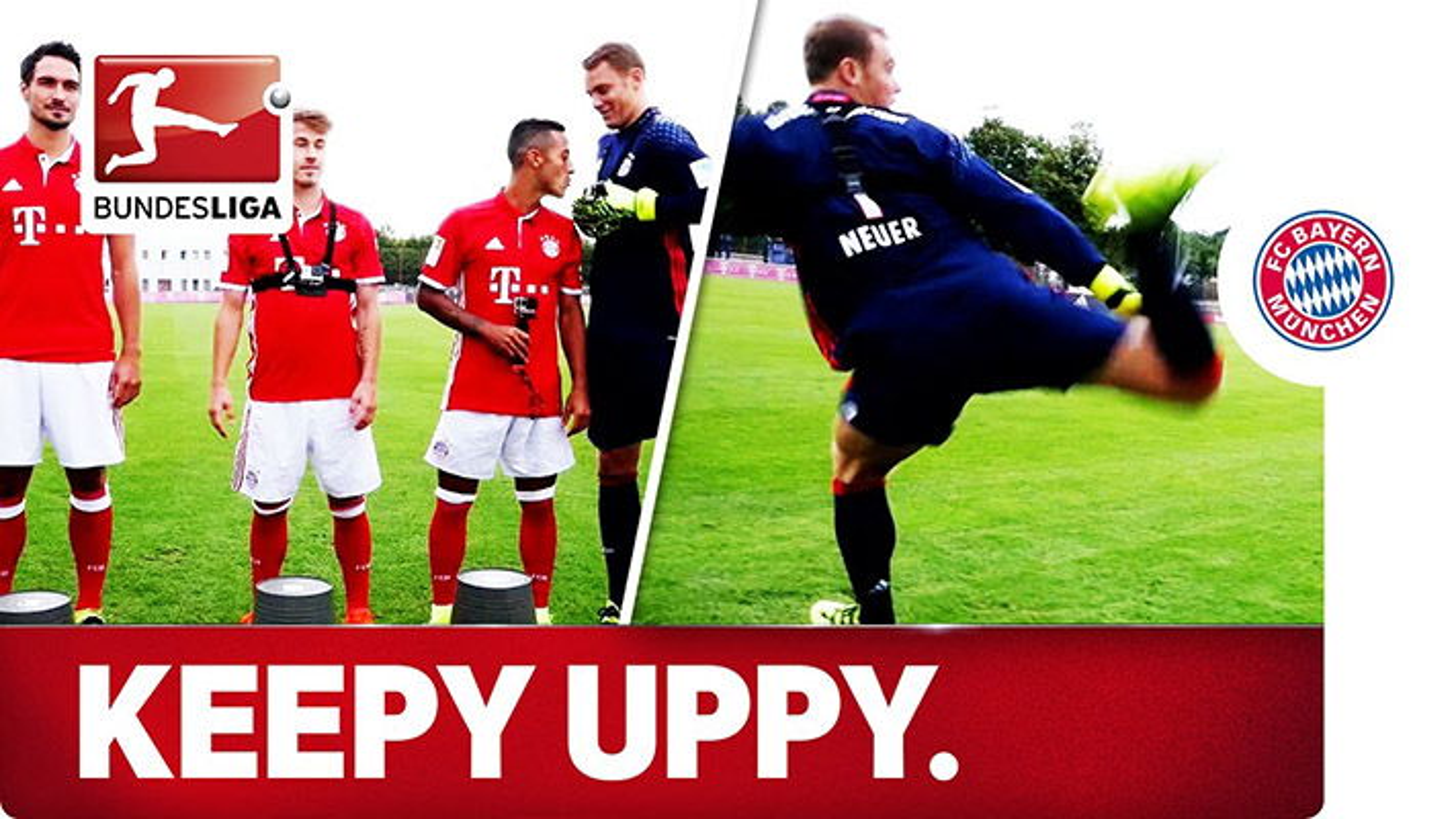 چالش جذاب Keepy Uppy بازیکنان بایرن مونیخ