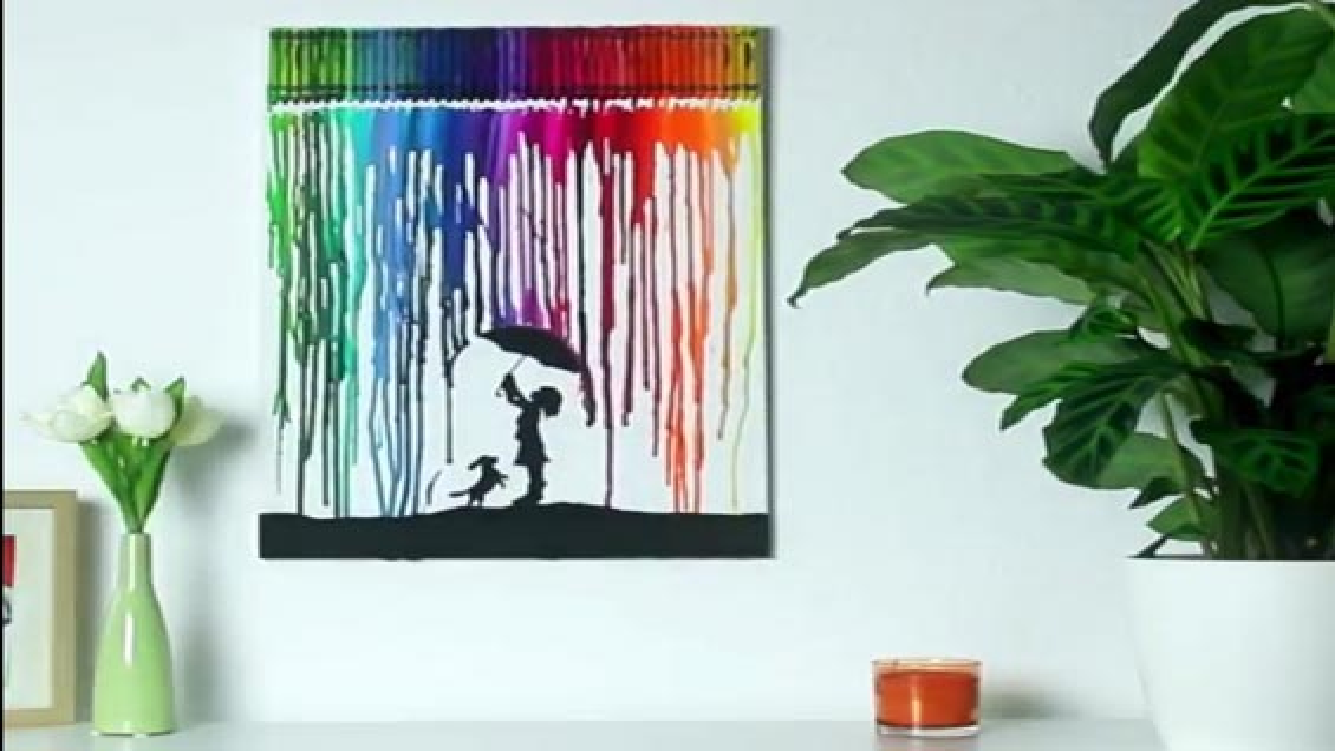 تابلوهای هنری رنگارنگ بسازید | فیلم