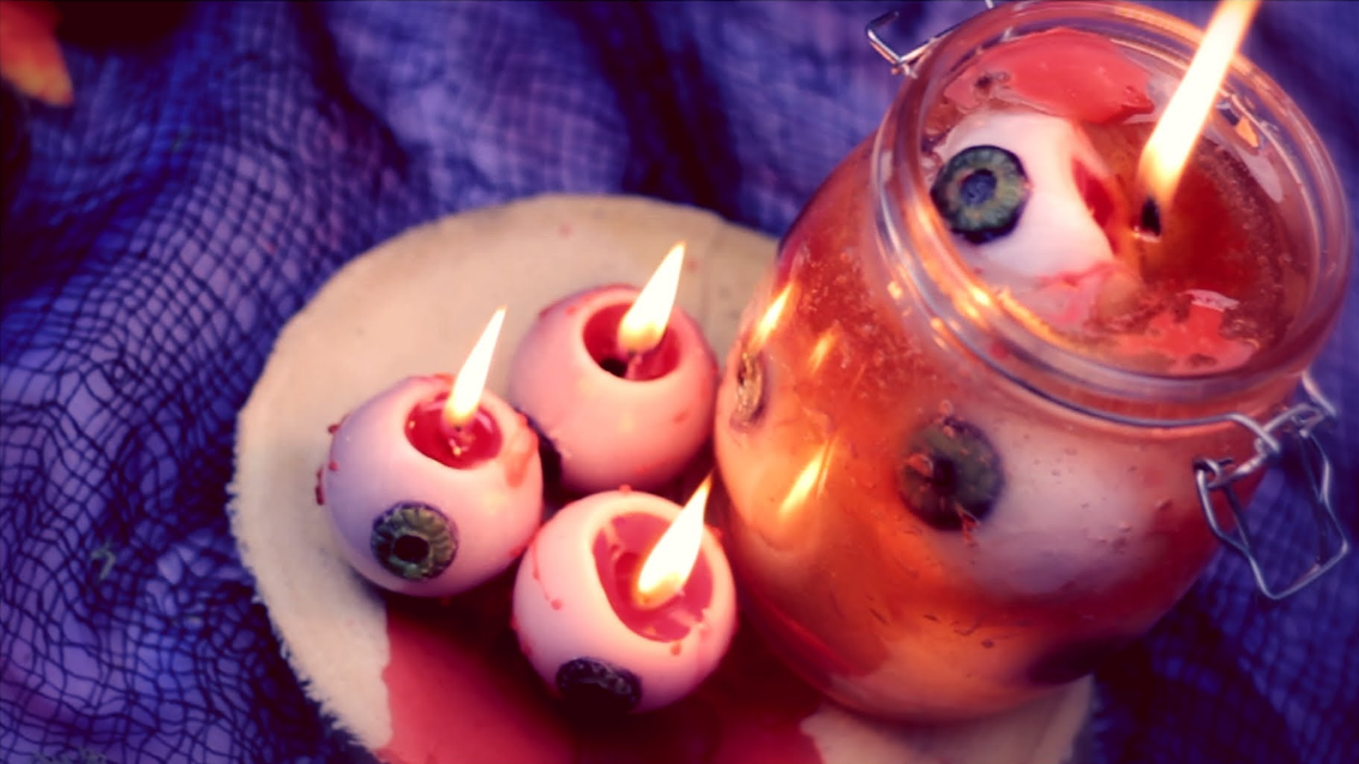 آموزش ساخت شمع ترسناک هالووین | فیلم