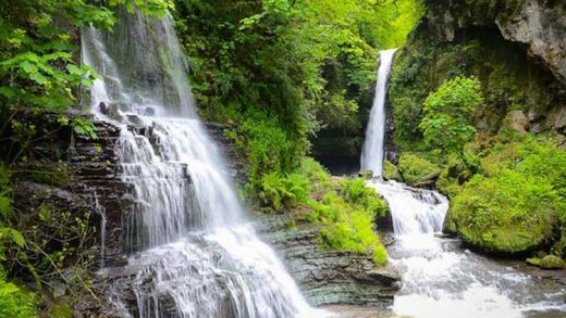 آبشار زمرد یکی از زیباترین آبشارهای گیلان | فیلم