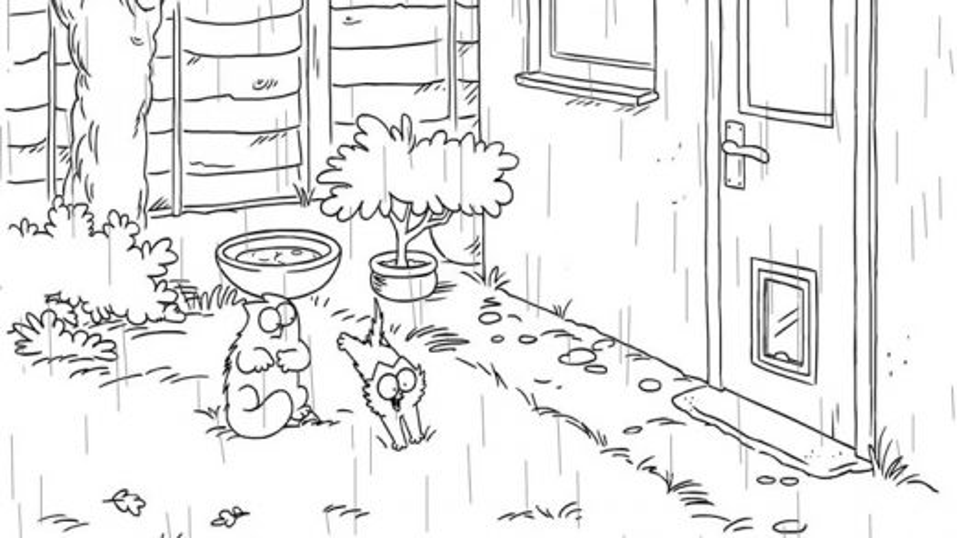 انیمیشن گربه سایمون؛ این قسمت دوش گرفتن بهاری | فیلم