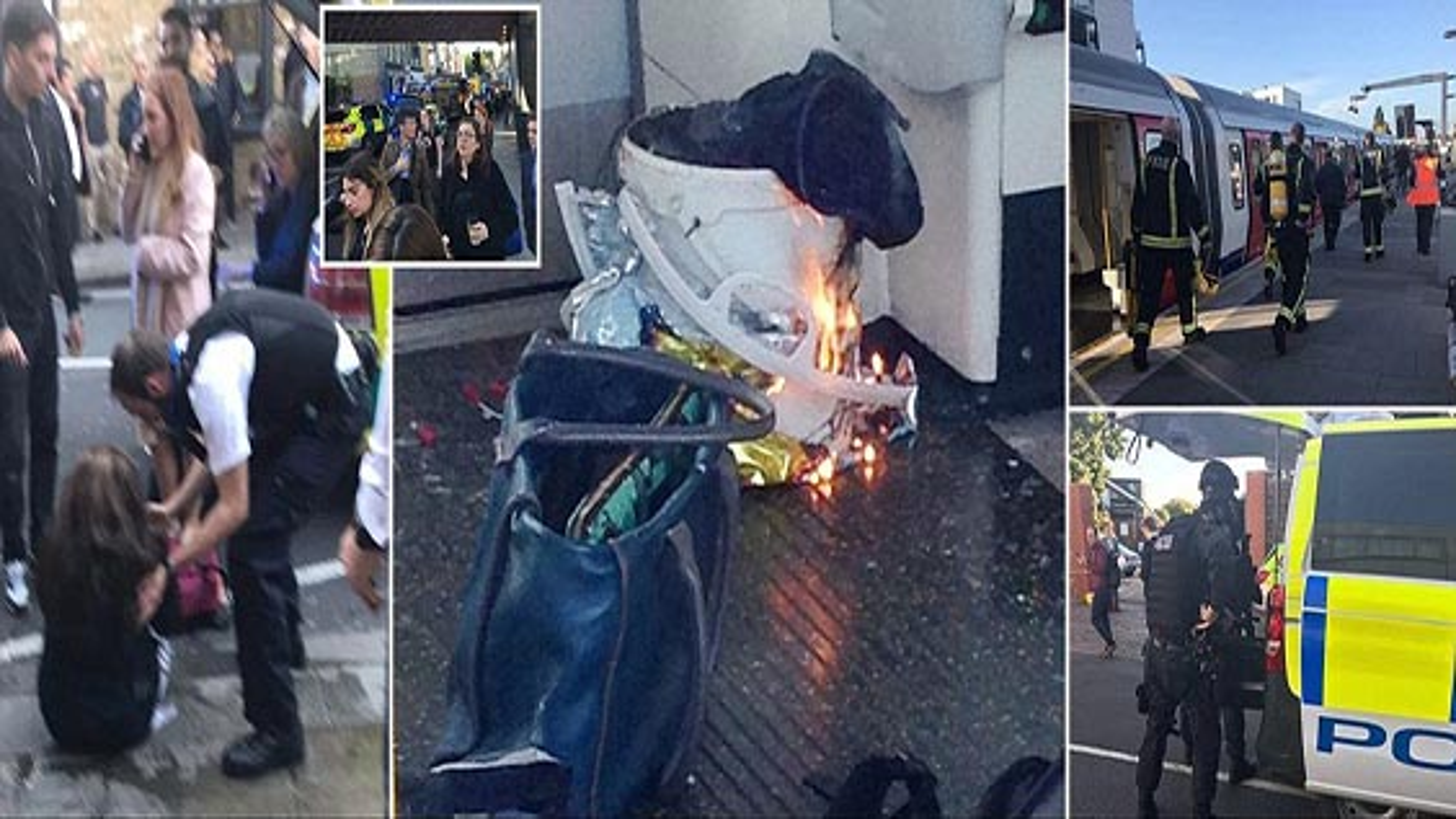 وقوع انفجار در یکی از قطارهای متروی لندن | فیلم