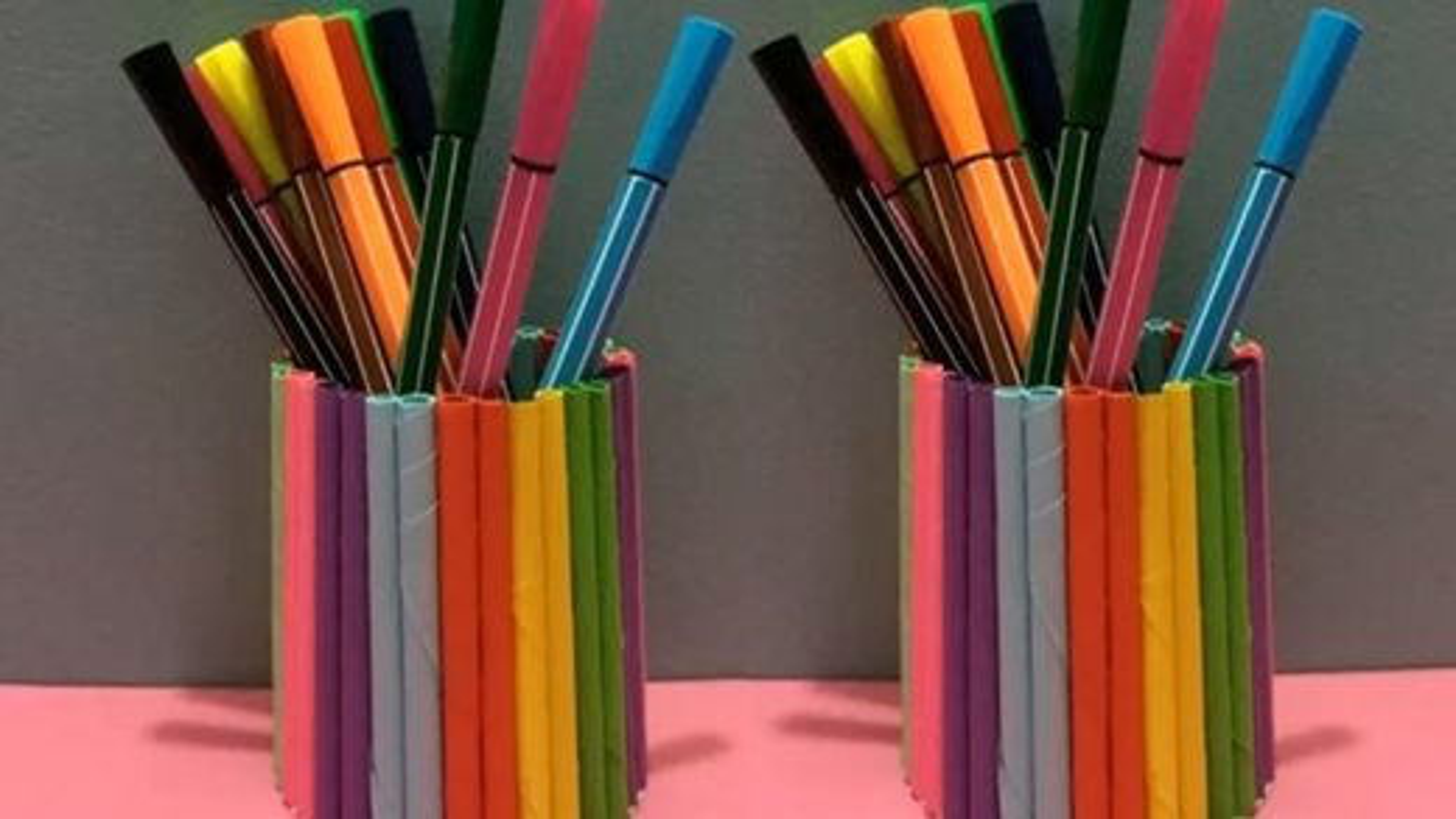 آموزش درست کردن جامدادی با کاغذ رنگی | فیلم