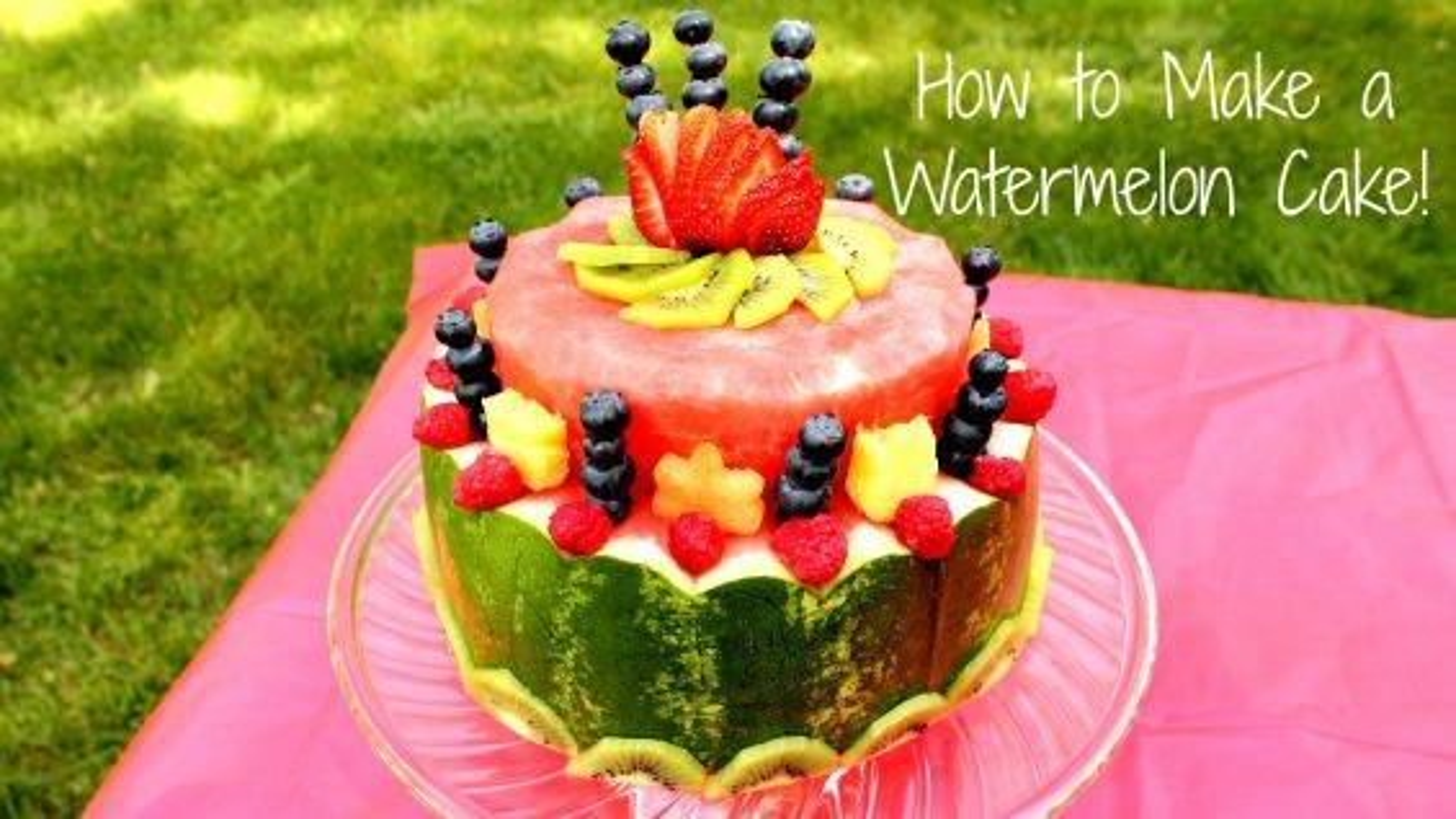 آموزش میوه آرایی ؛ درست کردن کیک هندوانه ویژه شب یلدا | فیلم