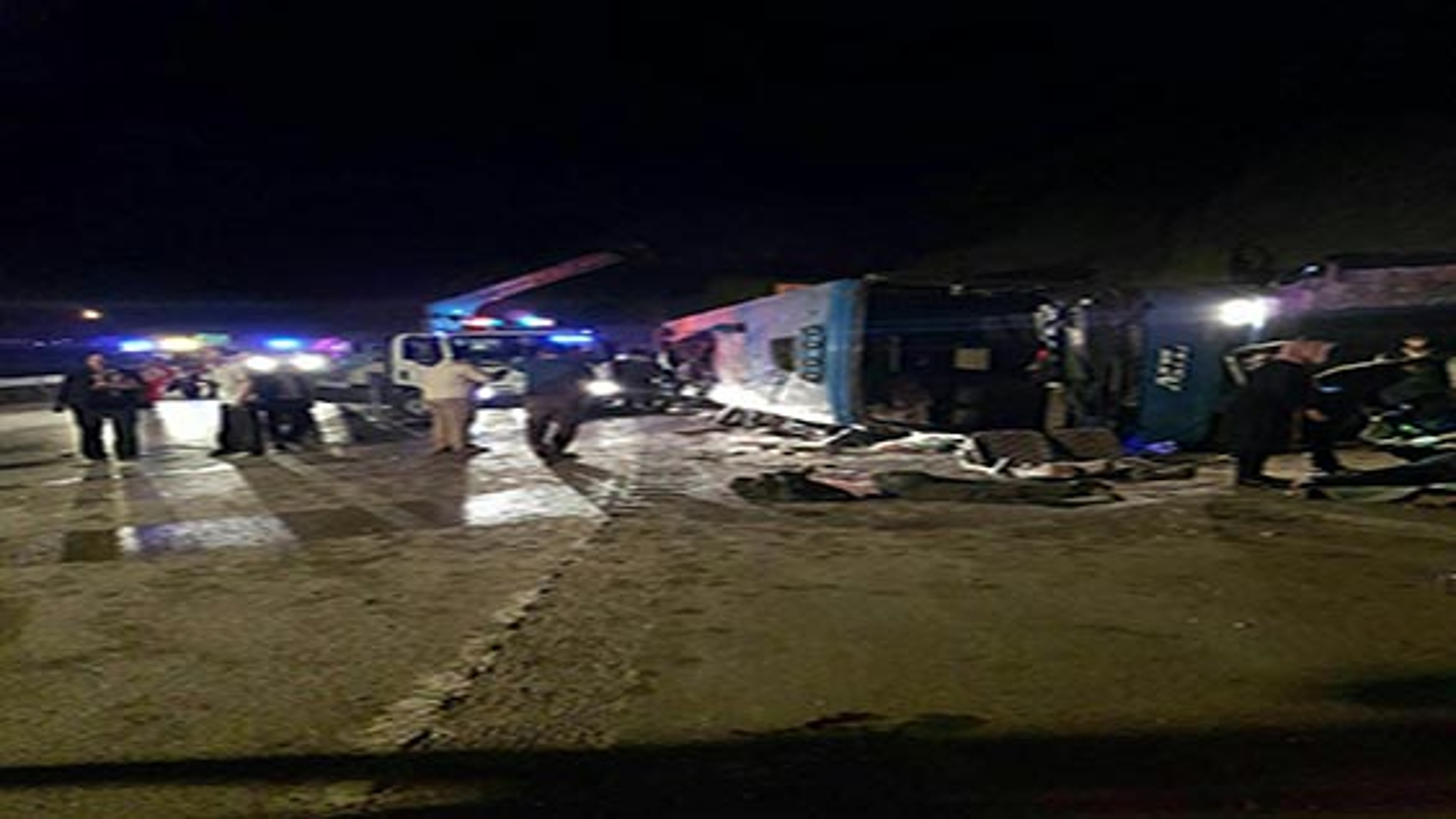 جزئیات حادثه سقوط اتوبوس تهران - گنبد در محور سواد کوه | فیلم