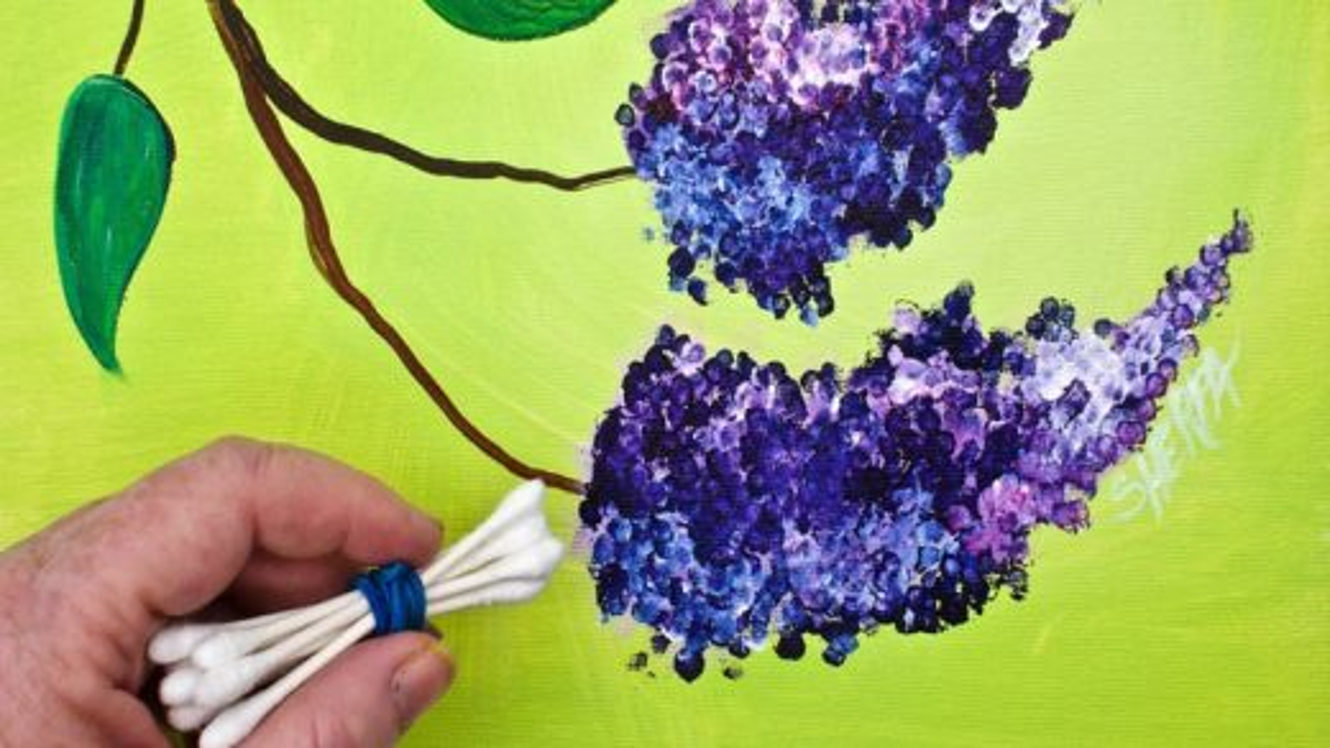 تکنیک نقاشی با آبرنگ؛ آموزش کشیدن گل سنبل | فیلم