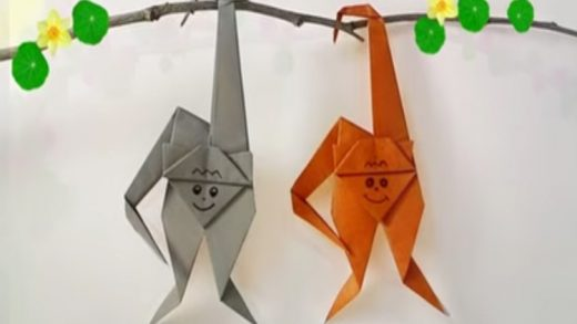 آموزش درست کردن میمون با کاغذ و تکنیک اوریگامی | فیلم