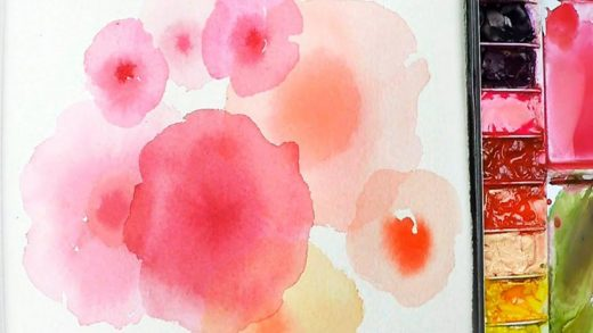 تکنیک نقاشی با آبرنگ؛ آموزش ترکیب کردن رنگ ها | فیلم