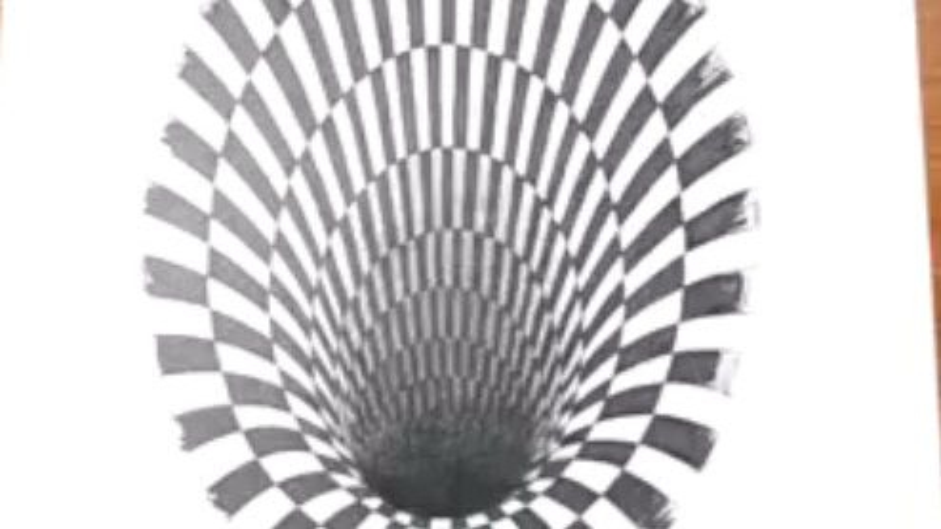 نقاشی سه بعدی گودال